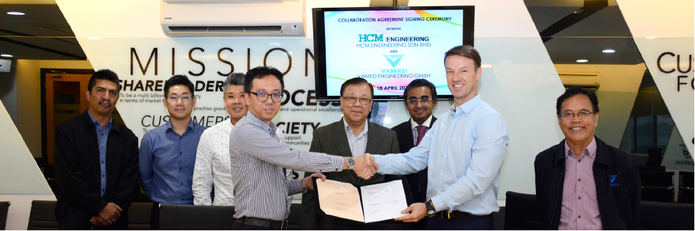 Signing Ceremony Of Collaboration Agreement Between HCM Engineering Sdn Bhd & Vamed Engineering Gmbh
